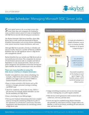 Skybot Scheduler Manage SQLServer