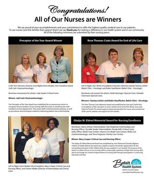 Beloit Health System: All of Our Nurses are Winners