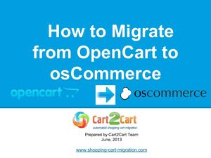 How to Migrate from OpenCart to osCommerce