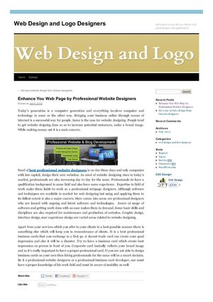 Enhance You Web Page by Professional Website Designers