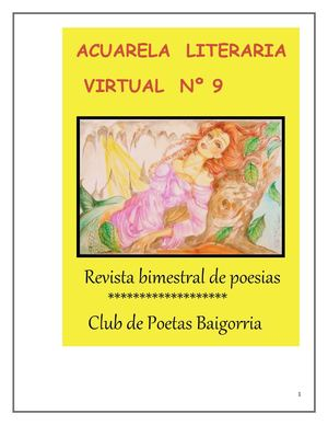 Revista Acuarela Literaria  Virtual nº 9