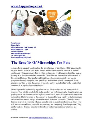 The Benefits Of Microchips For Pets