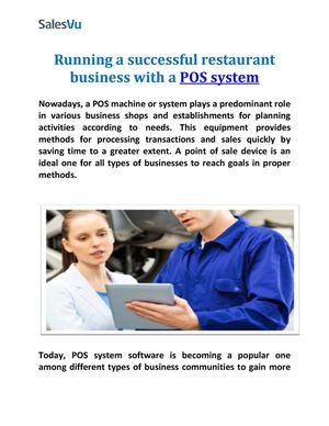 Running a successful restaurant business with a POS system