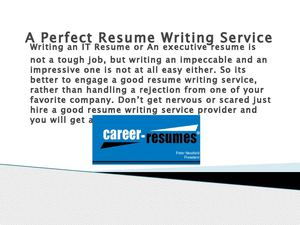A Perfect Resume Writing Service