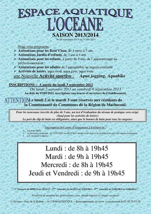 Horaires d'inscription