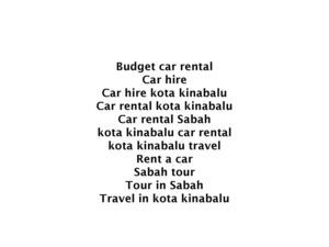 Major Benefits of Car Hire Kota Kinabalu