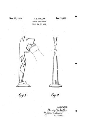 M.D.Avillar dog opener Patented 1929