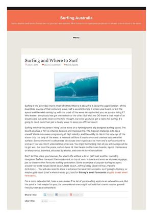 Surfing and Where to Surf
