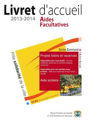CCAS - Aides facultatives 2013 - 2014