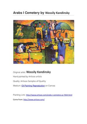 Arabs I Cemetery by Wassily Kandinsky--Artisoo