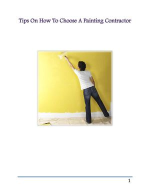 What You Should Know Before Hiring A Painting Contractor