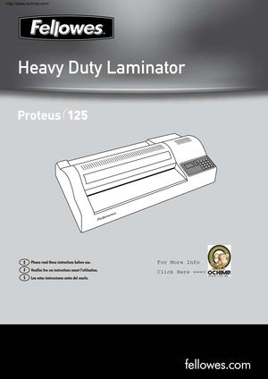 Fellowes Proteus 125 Laminator 13 Wide 10Mil Manual