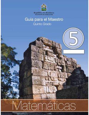 Calaméo - 5to Grado Guia del Maestro - Matematicas