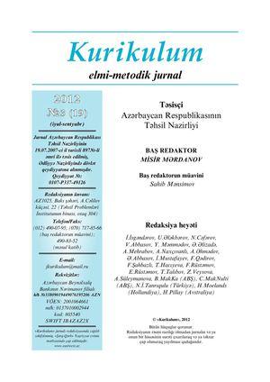Calameo Kurikulum Jurnali 2012 Ci Il 3 Cu Nomrə