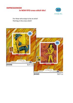 New RTO cross-stitch kits July 2013 IMPRESSIONISM