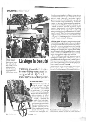"Article magazine ""Le Point"""