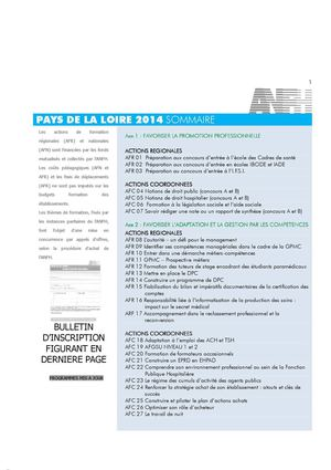 Catalogue de formation Pays de la Loire