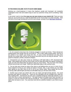 Tips for saving cash on electricity