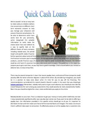 cash advance pay day loans