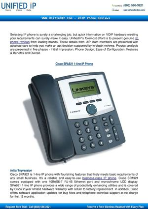 Cisco SPA921 IP Phone Review