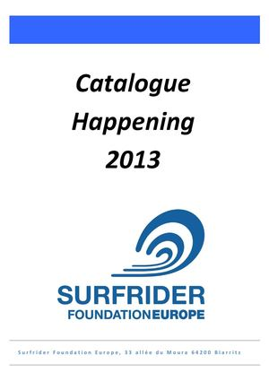 Catalogue Happening 2013_Surfrider Foundation Europe