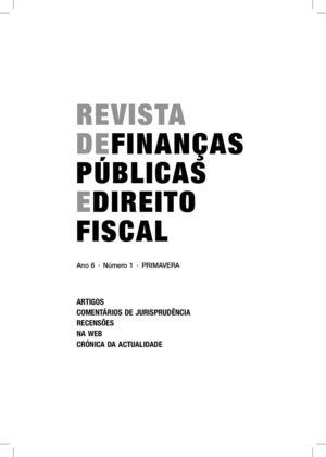 Calamo revista de finanas pblicas e direito fiscal revista de finanas pblicas e direito fiscal fandeluxe Images