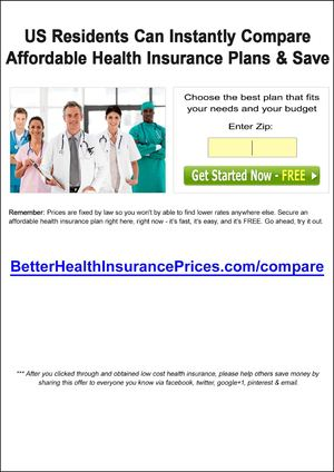Low Cost Health Insurance | US Residents Can Instantly Compare Affordable Health Insurance Plans & Save