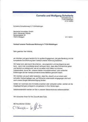 Calaméo - Empfehlungsschreiben der Firma neckartal Immobilien in ...