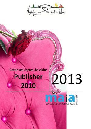 Creer Ses Cartes De Visite Sous Publisher 2010
