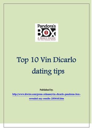 who is vin dicarlo