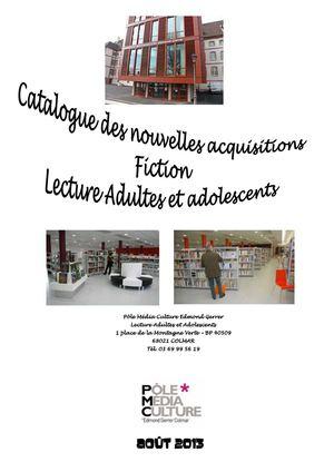 Calaméo Catalogue Des Nouveautés Lecture Publique Adulte
