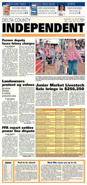 Delta County Independent, Aug. 14, 2013