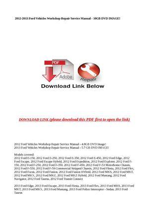 calam o 2012 2013 ford vehicles workshop repair service manual rh calameo com ford transit manual download ford transit 2000 manual download