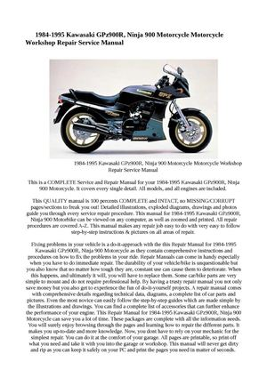 calam o 1984 1995 kawasaki gpz900r ninja 900 motorcycle rh calameo com 1994 Kawasaki Ninja 900 1992 Kawasaki Ninja 900