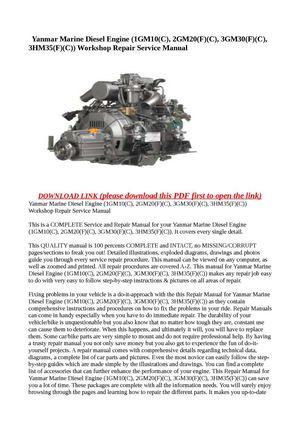calam o yanmar marine diesel engine 1gm10 c 2gm20 f c 3gm30 rh calameo com yanmar marine diesel engine service manual yanmar marine diesel engine service manual