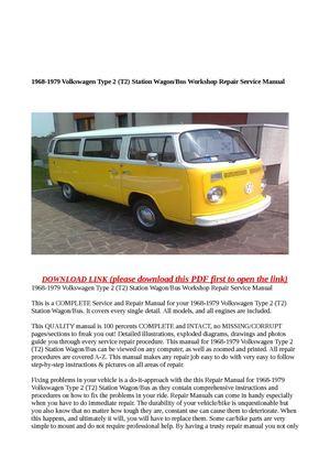 Calaméo - 1968-1979 Volkswagen Type 2 (T2) Station Wagon/Bus