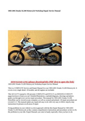 honda ctx200 manual for repair