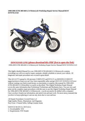 calam o 1998 2005 ktm 400 660 lc4 motorcycle workshop repair rh calameo com KTM 200 KTM 200