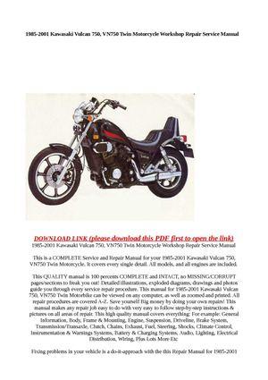 1985 kawasaki vulcan 750 horsepower
