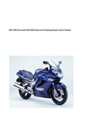 calam o 2002 2005 kawasaki zzr1200 motorcycle workshop repai rh calameo com 1985 Kawasaki ZL 900 Eliminator kawasaki zzr 1200 service manual pdf