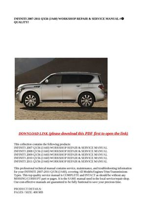 infiniti qx56 full service repair manual 2008