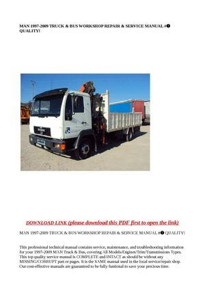 calam o man 1997 2009 truck bus workshop repair service m rh calameo com man tga service manual pdf man tga service manual download