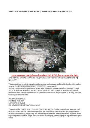 calam o daihtsu k3 engine k3 ve ke ve2 worksh rh calameo com Toyota Allion Toyota Land Cruiser