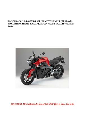 bmw r1200c r850c complete workshop service manual