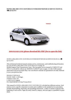 2003 honda civic hybrid owners manual pdf