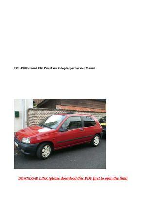 1991-1998 renault clio petrol workshop repair service manual