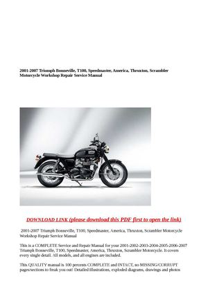 Triumph Speedmaster Workshop Manual Pdf