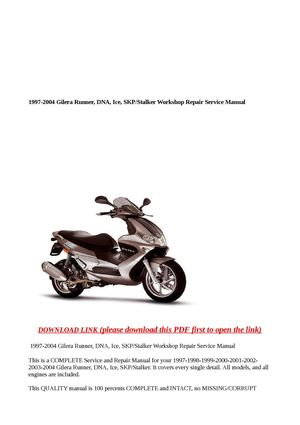 gilera dna 180 user manual