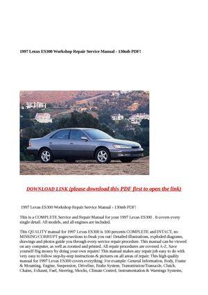 calam o 1997 lexus es300 workshop repair service manual 130mb pdf rh calameo com 1997 lexus es300 factory service manual 1997 Lexus ES 300