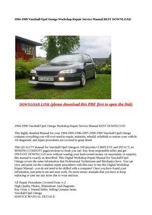 calam o 1994 1999 vauxhall opel omega workshop repair service rh calameo com 1987 Vauxhall Omega 2001 Vauxhall Omega